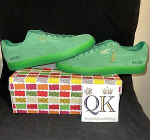 PUMA X HARIBO SUEDE CLASSIC 382565-01  Green Mens lifestyle Shoes Size 10