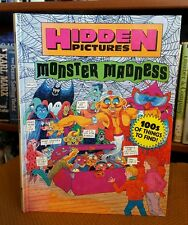 Monster Madness Hidden Pictures 100's of things to find (1992, Hardcover)