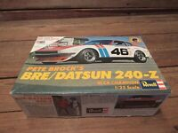 Vintage REVELL PETE BROCK'S BRE/DATSUN 240-Z Car Model Kit - Junkyard Parts!