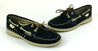 Sperry Top Sider Womens 9.5 M Loafers Shoes Black Slip Ons