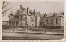 High Point NC * Graded School Building  RPPC   1908 * A.E. Alexander Pub.