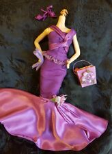 2004 Purple Birthday Wishes Barbie Doll Dress Silver Label Mermaid Style 2 Piece