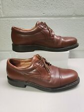 Bostonian STRADA Men's Size10 M Brown Cap Toe Lace Up Leather Oxfords ITALY