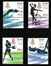 Beijing Summer Olympics mnh set of 4 tabbed stamps 2008 Israel #1738-41