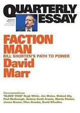 Faction Man: Bill Shorten's Path to Power by David Marr (Paperback, 2015)