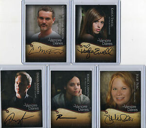 The Vampire Diaries Autograph & Wardrobe Card Selection NM Cryptozoic