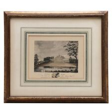 Antique Framed Collotype After W. L. J. Walker Etching of Colwick Hall ca. 1860