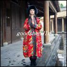 Ethnic Women Long Floral Quilted Winter Warm Coat Folk Chinese Jacket Overcoat #