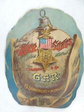 1889 Antique Civil War GAR Schlitz Brewing Co Milwaukee WI War Songs Book Beer
