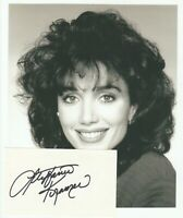 Stepfanie Kramer  :   Actress ;   Vintage Signed Card with photograph