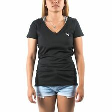 PUMA WOMEN'S V NECK TEE SHIRT BLACK SIZE S (T93) $26