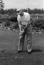 Eisenhower plays golf 35mm original black and white negative 1956 GOLF