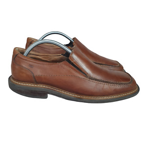 Sketchers Collection Shoes Mens10 Loafers Brown Leather Lace Up Made in Italy