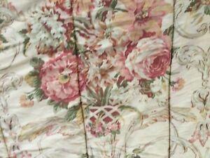 RALPH LAUREN GUINEVERE Sateen Full/Queen Floral Comforter,EUC