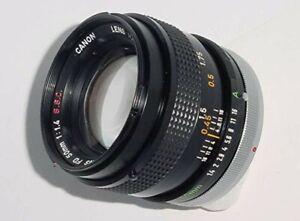 Canon FD 50mm 1:1.4 SSC lens (620727)