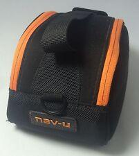 NAV-U GPS, Camera or Acessories Carrying Case Padded Adj Dividers Black/ Orange