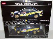 Modellini statici di auto da corsa blu per Subaru