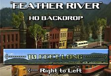 "Train Junkies HO  Feather River Mtns Model Railroads Background R2L  120""X18"""