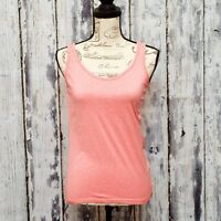 Rue 21 Tank Top Womens Size Large Pink Sleeveless Stretchy Exercise