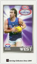 2007 Kraft Dairy AFL Action Heroes Card #17 Scot West (Western Bulldogs)