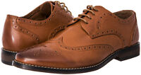 J's.o.l.e Men Dress Shoes Leather Lined Wingtip Lace Up Oxford Latex Footbed