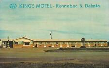 Kennebec, South Dakota King'S Motel Roadside c1950's Postcard