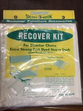 Recover Kit For Director Chairs Natural Canvas All Cotton Shady Nook Dowel Type