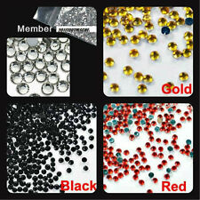 400 Strass Cristal 3D Perles Décorations Ongles Nail Art Manucure Facette 1MM