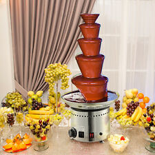 "Large 5 Tiers Stainless Party Hotel Commercial 27"" 68cm Chocolate Fountain"