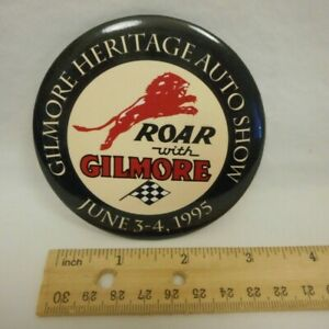 "1995 Roar with Gilmore Stadium Heritage Auto Show Midget Car Racing 3"" Button"