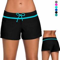 Women's Swim Board Shorts Tankini Bottom Bikini Sport Yoga Beach Swimwear Lining