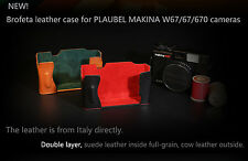 NEW! Brofeta Italy leather case/bag for PLAUBEL Makina W67 67 670 film cameras