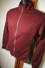 NEW Club Ride Burgandy Wool Blend LS Cycling Jersey Sz S Full Zip       s9