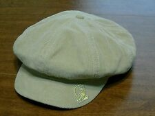 Women's Light Brown Corduroy Newsboy Hat Size OSFM Baby Phat