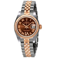 Rolex Lady Datejust 26 Chocolate Brown Dial Stainless Steel and 18K Everose
