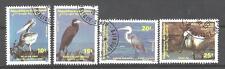 Oiseaux Djibouti (62) série complète de 4 timbres oblitérés