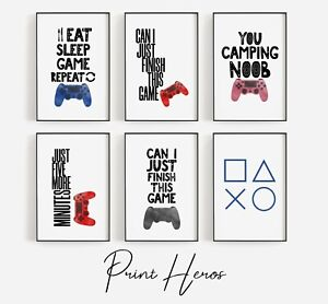 Gaming Colour Prints for Kids Bedroom Picture Wall *OFFER 3 for 2 PlayStation
