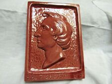 1943 Jules Scarceriaux Pottery Chopin Sculpture Plaque Rare!