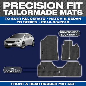 Fits Kia Cerato YD 2013-2018 Custom Moulded Rubber Front & Rear Car Floor Mats