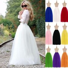6 Layers 100cm Long Women Tulle Skirts Wedding Bridal Skirt Ball Gown TUTU