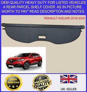 NEW PARCEL SHELF LOAD CARGO COVER BLIND BLACK FOR RENAULT KADJAR 2016-2020