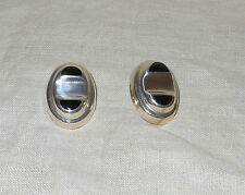 Sterling Silver Black Onyx Earrings Made In Mexico