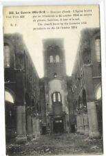 1 CPA 59 Nord Dunkerque L'eglise brulee par les Allemands le 14 octobre 1914