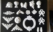 18 moulages pour décoration en platre