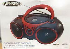 Jensen CD-490 Radio CD Player - Red