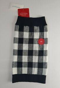Charter Club Pet Dog Sweater Black & White Size Medium MSRP $39.50 New