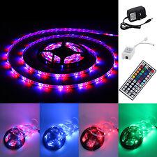 5M 3528 300 SMD RGB LED strip Light 12 V Waterproof 44 Key IR Remote Control UK