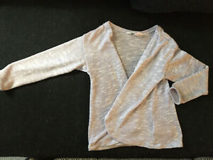 Girls H&M Wrap Sweater Size 4-6y Toddler Girl Sparkle Sweater 4T 5T 6y