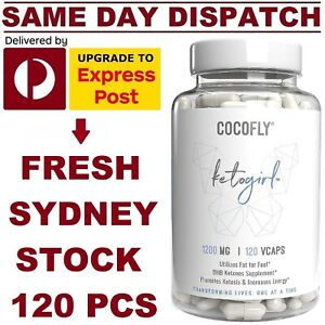 Cocofly KETO BHB Diet Pills 1200mg 120 VCaps ADVANCED WEIGHT LOSS KETOSIS BURNER