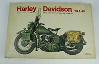 Vintage ESCI 1/9 Harley Davidson WLA-45 Motorcycle Plastic Model Kit #7002 As Is